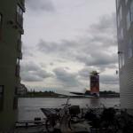 Doorkijk richting oude Shell gebouw